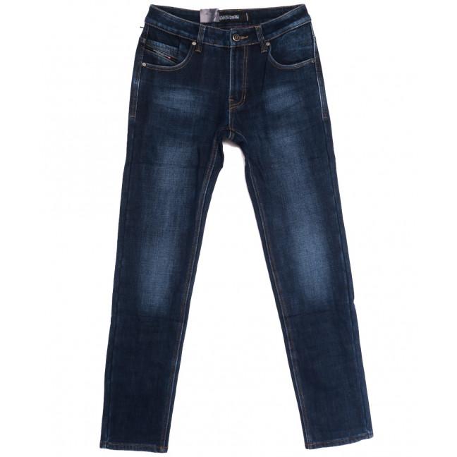 9362 God Baron джинсы мужские на флисе синие зимние стрейчевые (29-36, 8 ед.) God Baron: артикул 1114427