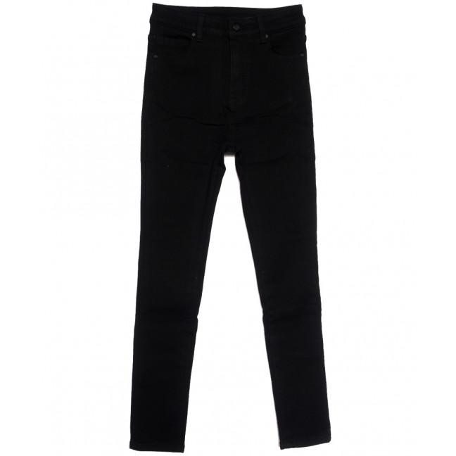 0574 New Jeans американка полубатальная на флисе черная зимняя стрейчевая (28-33, 6 ед.) New Jeans: артикул 1113790