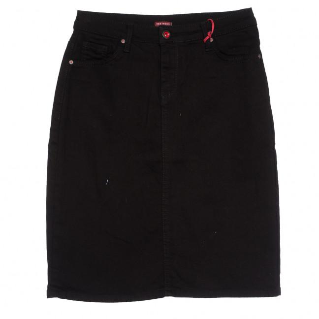 0574 Redmoon юбка джинсовая батальная черная осенняя стрейчевая (30-36, 6 ед.) REDMOON: артикул 1113996