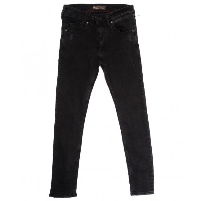 7153 Destry джинсы мужские с царапками темно-серые осенние стрейчевые (29-36, 8 ед.) Destry: артикул 1113419