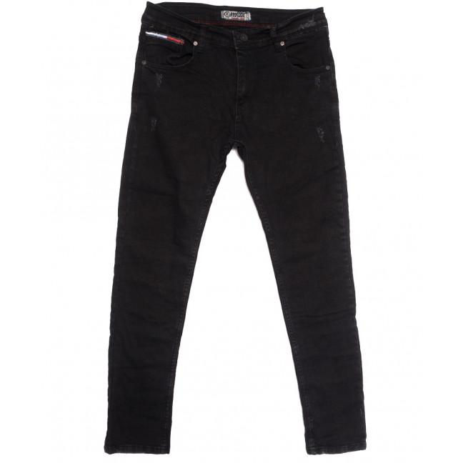 7148 Redcode джинсы мужские полубатальные с царапками темно-серые осенние стрейчевые (32-40, 8 ед.) Redcode: артикул 1113726