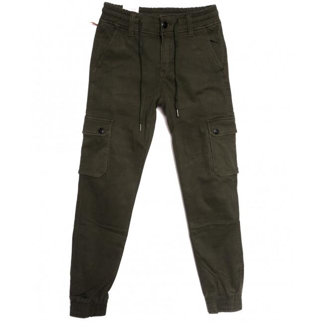8387 Reman брюки карго мужские молодежные на флисе хаки зимние стрейчевые (28-36, 8 ед.) Reman: артикул 1115064