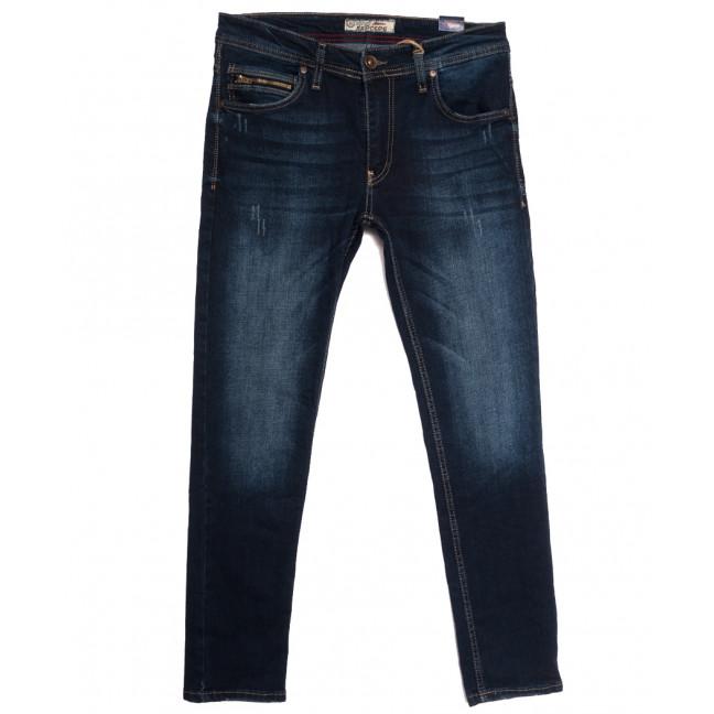 6235 Redcode джинсы мужские с царапками синие осенние стрейчевые (29-36, 8 ед.) Blue Nil: артикул 1113427