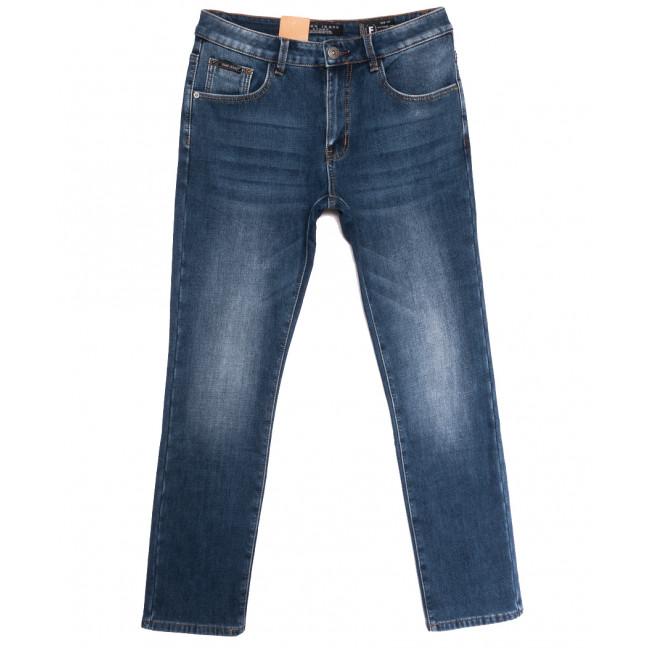 2312 Fang джинсы мужские на флисе полубатальные синие зимние стрейчевые (32-42, 8 ед.) Fang: артикул 1114403