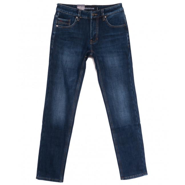 9363 God Baron джинсы мужские на флисе синие зимние стрейчевые (29-38, 8 ед.) God Baron: артикул 1114426