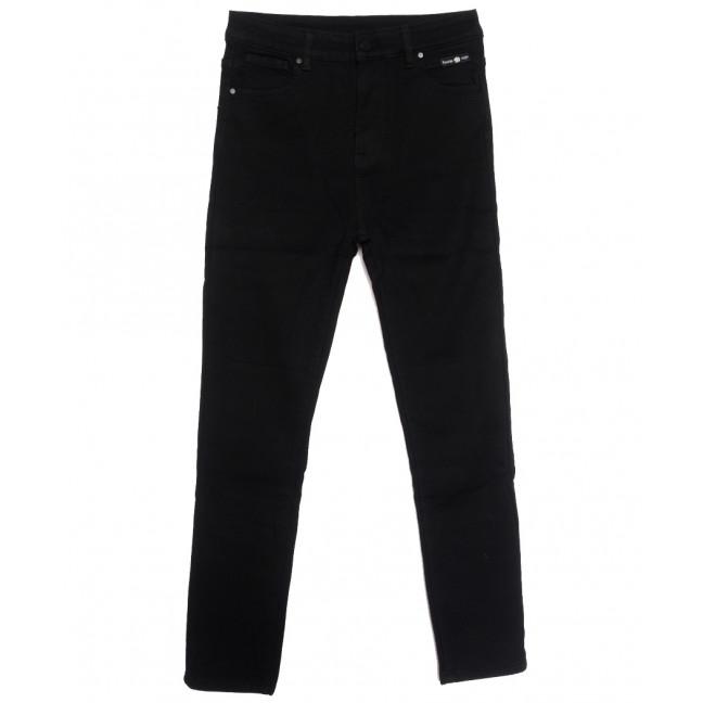 0568 New Jeans американка батальная на флисе черная зимняя стрейчевая (31-36, 6 ед.) New Jeans: артикул 1113799