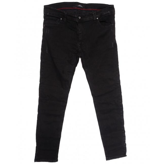 7177 Corcix джинсы мужские полубатальные с царапками темно-серые осенние стрейчевые (32-40, 8 ед.) Corcix: артикул 1113736