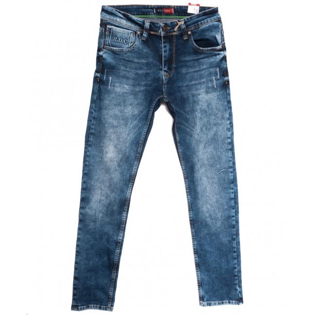 6976 Redcode джинсы мужские с царапками синие осенние стрейчевые (29-36, 8 ед.) Blue Nil: артикул 1113425