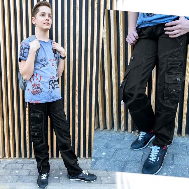 3178 Vigoocc подростковые джинсы карго на мальчика черные коттоновые (6 ед. размеры: 25.26.27.28.29.30) Vigoocc: артикул 1112913