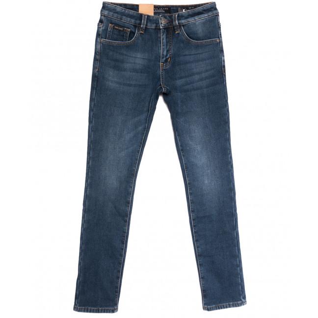 2306 Fang джинсы мужские на флисе синие зимние стрейчевые (29-36, 8 ед.) Fang: артикул 1114401