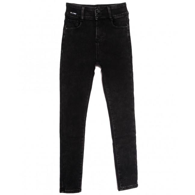 0585 New Jeans джинсы женские на флисе черные зимние стрейчевые (25-30, 6 ед.) New Jeans: артикул 1113581