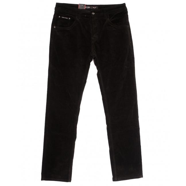 7023 (7023D) Vitions брюки мужские вельветовые полубатальные коричневые осенние стрейчевые (32-42, 8 ед.) Vitions: артикул 1114244