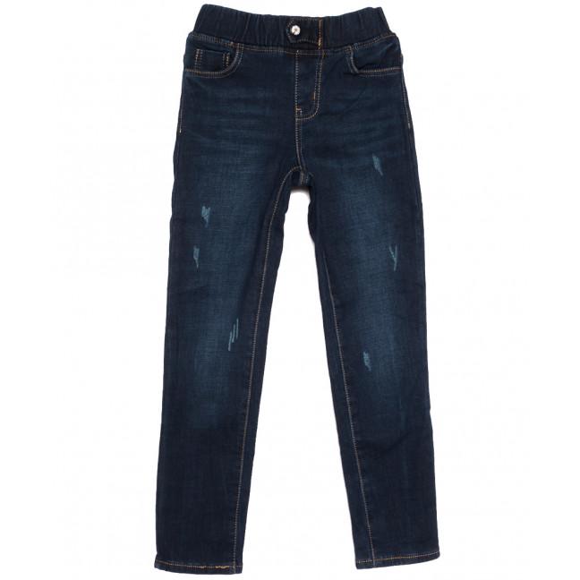 0609 Little Star джинсы на мальчика на флисе с царапками  синие зимние стрейчевые (23-28, 6 ед.) Little Star: артикул 1113843