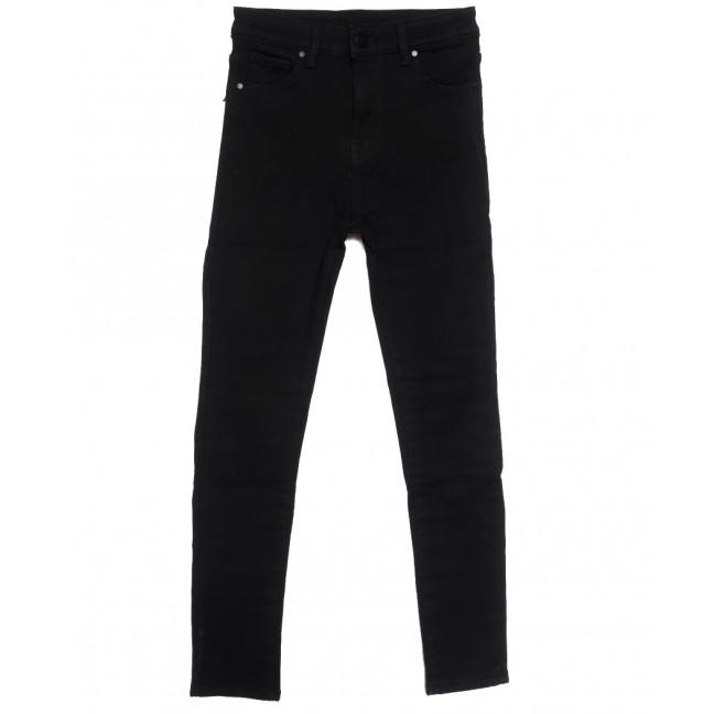 0565 New Jeans американка полубатальная на флисе черная зимняя стрейчевая (28-33, 6 ед.) New Jeans: артикул 1113801
