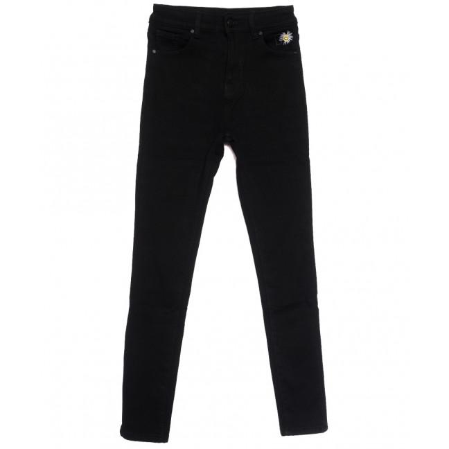 0583 New Jeans американка на флисе черная зимняя стрейчевая (25-30, 6 ед.) New Jeans: артикул 1113821