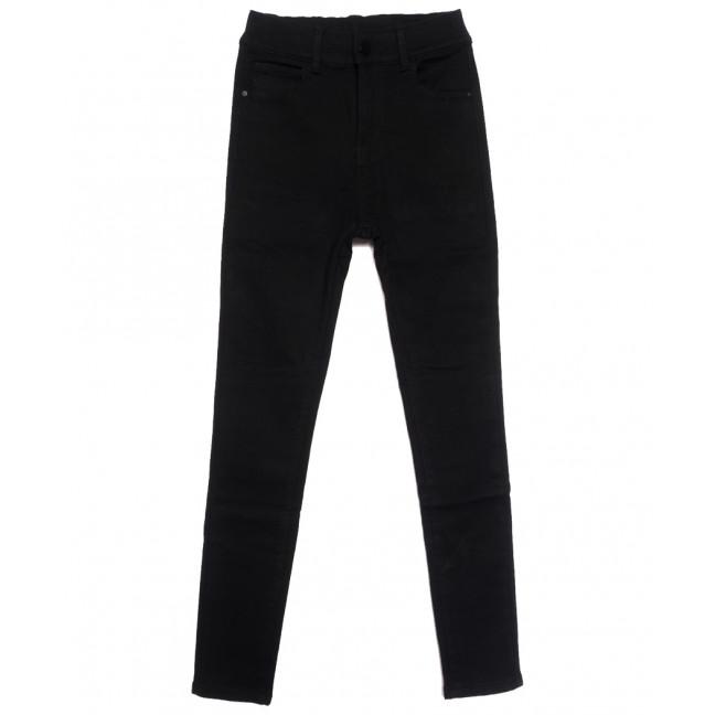 0571 New Jeans американка на флисе черная зимняя стрейчевая (25-30, 6 ед.) New Jeans: артикул 1113795