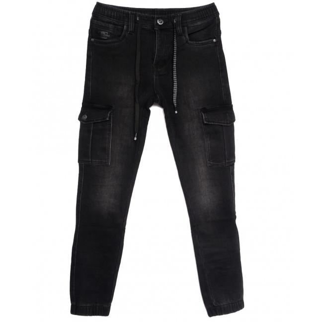 1580 Bagrbo джинсы мужские на резинке на флисе черные зимние стрейчевые (30-38, 8 ед.) Bagrbo: артикул 1114884