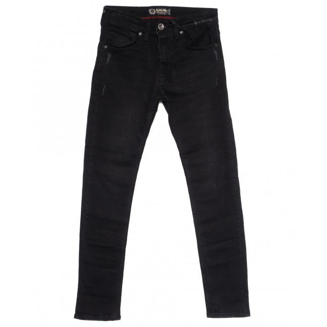 7237 Blue Nil джинсы мужские с царапками черные осенние стрейчевые (29-36, 8 ед.) Destry: артикул 1114032