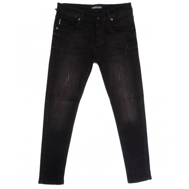 2144 Oldtime джинсы мужские с царапками темно-серые осенние стрейчевые (30-40, 8 ед.) OLDTIME: артикул 1113733