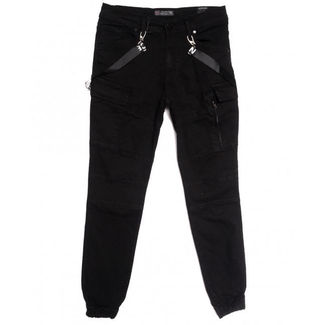 5836 Redman брюки карго мужские черные осенние стрейчевые (29-36, 8 ед.) REDMAN: артикул 1114903