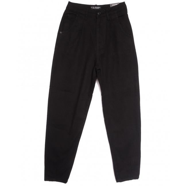 1754 Siyah Its Basic джинсы-баллон черные осенние коттоновые (32-36,евро, 6 ед.) Its Basic: артикул 1114322
