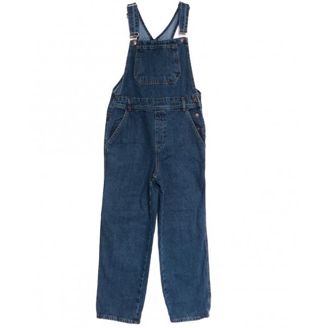 3702 комбинезон джинсовый женский синий осенний коттоновый (XS-L, 6 ед.) Комбинезон: артикул 1115028