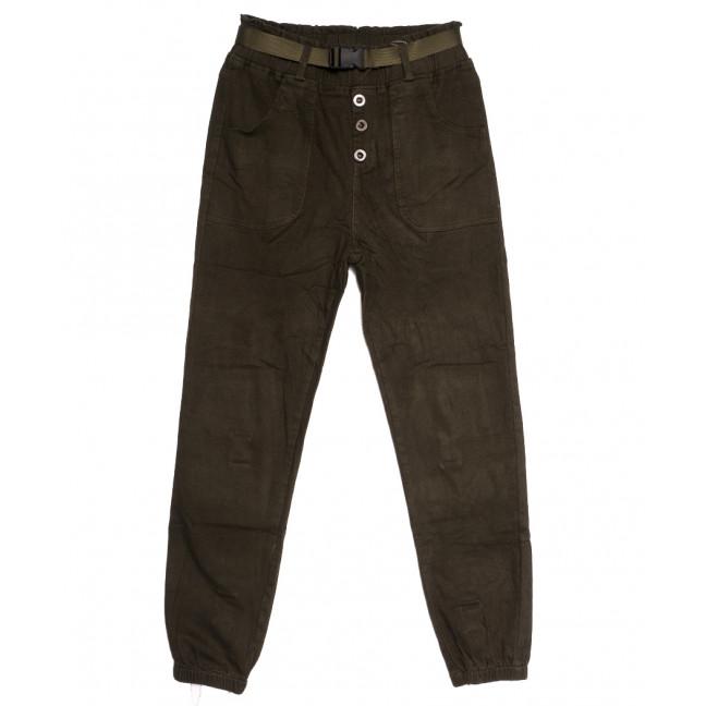 0715 (715L) хаки Forest Jeans джоггеры осенние стрейчевые (25-30, 6 ед.) Forest Jeans: артикул 1113230