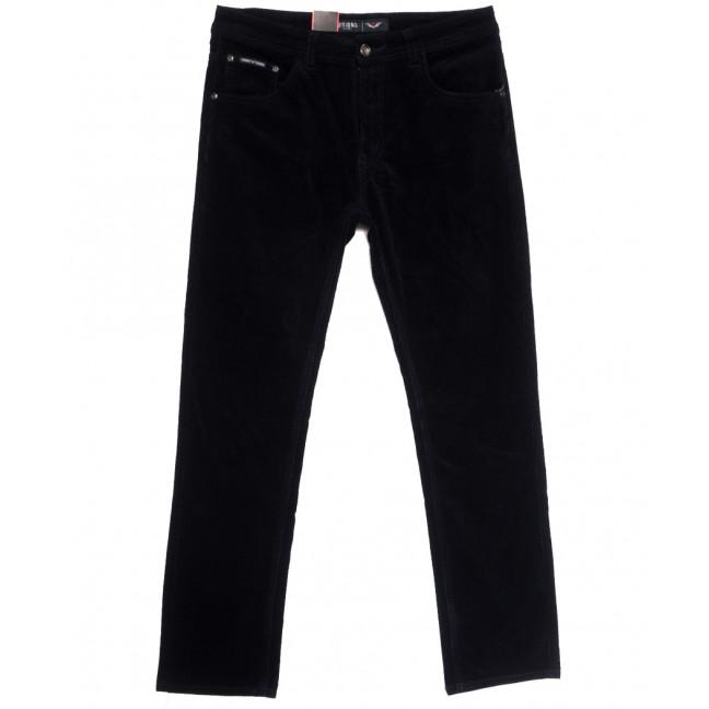 7021 (7021D) Vitions брюки мужские вельветовые полубатальные темно-синие осенние стрейчевые (32-42, 8 ед.) Vitions: артикул 1114241