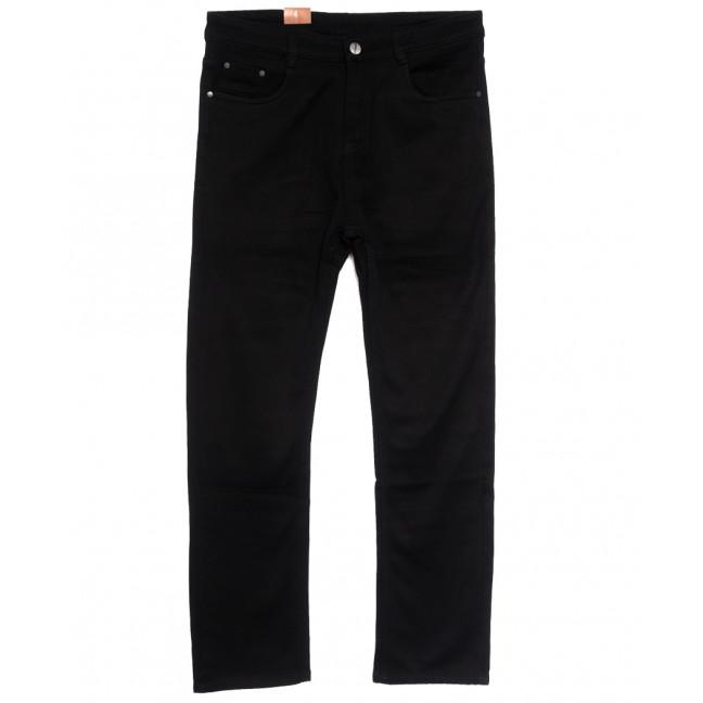 87601 джинсы мужские полубатальные на флисе черные зимние стрейчевые (32-40, 8 ед.) Джинсы: артикул 1114888