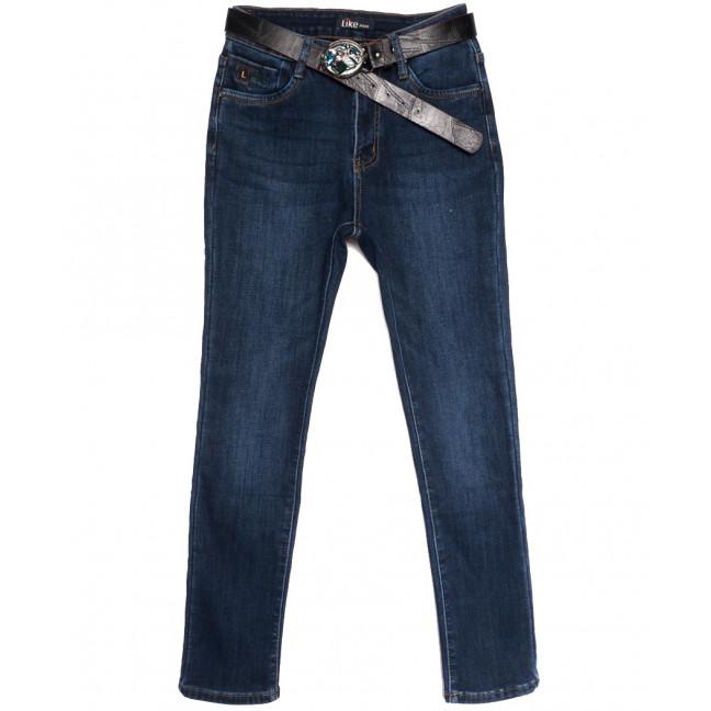 6253 Like джинсы женские батальные на флисе синие зимние стрейчевые (30-36, 6 ед.) Like: артикул 1114393