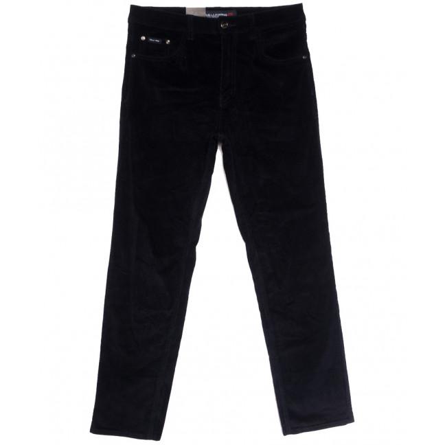 8811 (8811В) LS брюки мужские вельветовые полубатальные темно-синие осенние стрейчевые (32-40, 8 ед.) LS: артикул 1114239