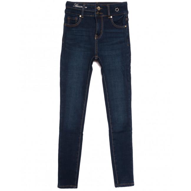 0589 New Jeans американка на флисе синяя зимняя стрейчевая (25-30, 6 ед.) New Jeans: артикул 1113815