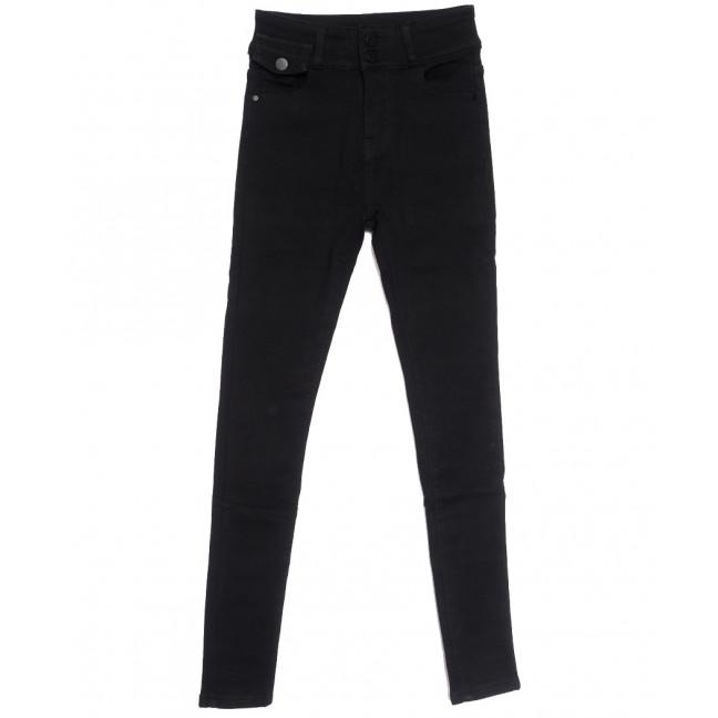 0573 New Jeans американка на флисе черная зимняя стрейчевая (25-30, 6 ед.) New Jeans: артикул 1113791