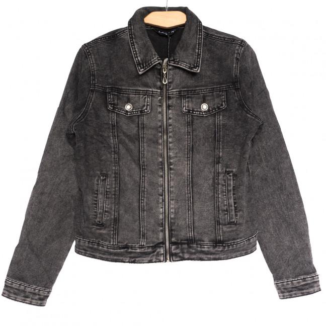 1623 Lady N куртка джинсовая женская серая осенняя стрейчевая (S-2XL, 6 ед.) Lady N: артикул 1114184