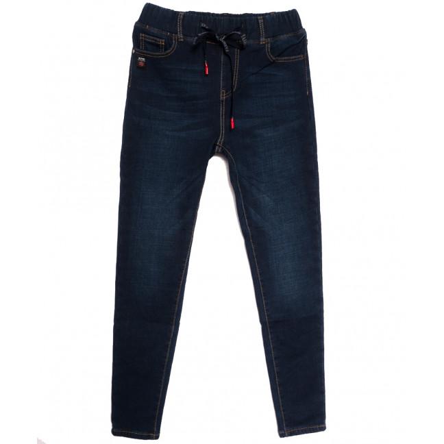 0591 New Jeans джинсы женские на резинке на флисе синие зимние стрейчевые (25-30, 6 ед.) New Jeans: артикул 1113579