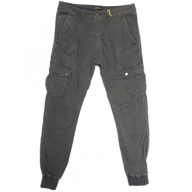 6510-12 серые Caleb брюки карго мужские батальные  стрейчевые (5 ед. размеры: 32.34.36.38.40) Caleb: артикул 1114478