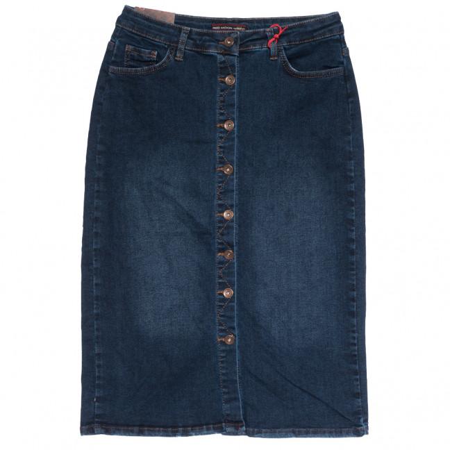 0614 Redmoon юбка джинсовая батальная на пуговицах синяя осенняя стрейчевая (30-36, 6 ед.) REDMOON: артикул 1113997