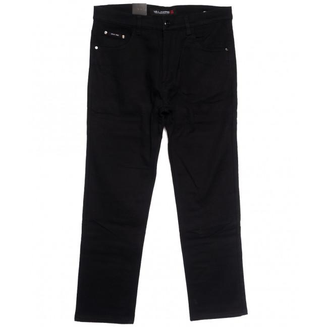 89023 LS джинсы мужские батальные на флисе черные зимние стрейчевые (34-42, 8 ед.) LS: артикул 1114576