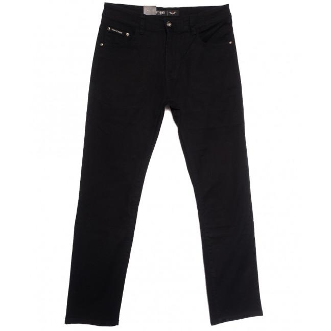 7052 Vitions джинсы мужские полубатальные черные осенние стрейчевые (32-38, 8 ед.) Vitions: артикул 1113596