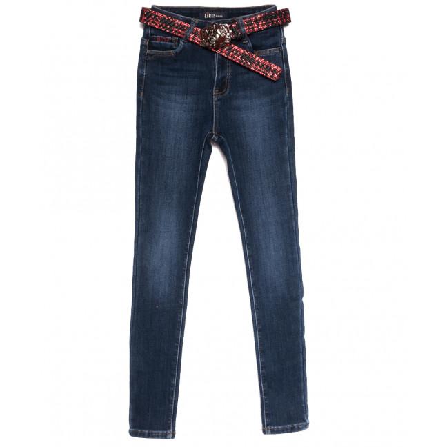 6249 Like джинсы женские на флисе синие зимние стрейчевые (25-30, 6 ед.) Like: артикул 1114396