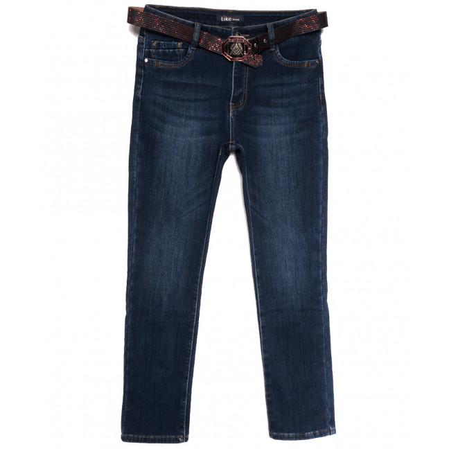 6256 Like джинсы женские батальные на флисе синие зимние стрейчевые (30-36, 6 ед.) Like: артикул 1114398