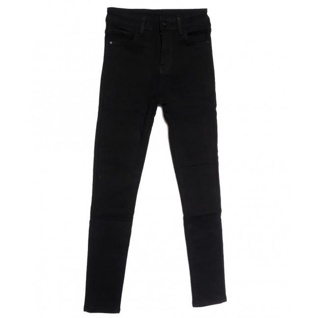 0559 New Jeans американка на флисе черная зимняя стрейчевая (25-30, 6 ед.) New Jeans: артикул 1113819