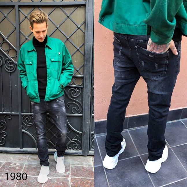 1980-03 Vingvgs джинсы мужские молодежные серые с царапками осенние стрейчевые (27-2,28-2,29, 5 ед.) Vingvgs: артикул 1114649