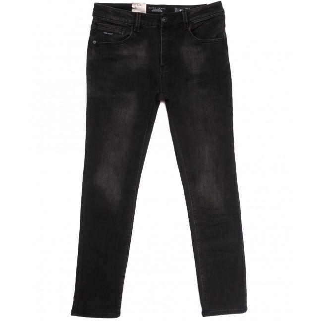 2299 Fang джинсы мужские на флисе темно-серые зимние стрейчевые (30-38, 6 ед.) Fang: артикул 1114400