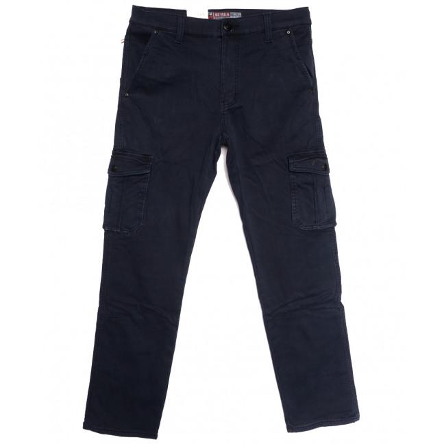 8392 Reman брюки карго мужские полубатальные на флисе темно-синие зимние стрейчевые (32-42, 8 ед.) Reman: артикул 1115057