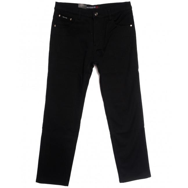 89021 (89021D) LS джинсы мужские батальные на флисе черные зимние стрейчевые (32-42, 8 ед.) LS: артикул 1114825