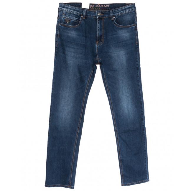 2619 Riggs джинсы мужские полубатальные синие осенние стрейчевые (32-38, 8 ед.) Rich Collection: артикул 1113565