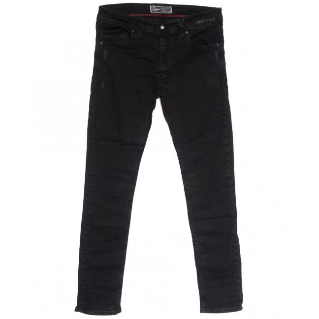 7179 Fashion Red джинсы мужские полубатальные с царапками темно-серые осенние стрейчевые (32-40, 8 ед.) Fashion Red: артикул 1114020