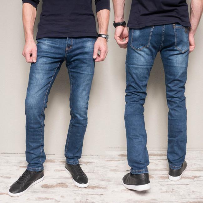 6024-01 Hopeai джинсы мужские синие с теркой осенние стрейчевые (29,30,31, 3 ед.) Hopeai: артикул 1114640