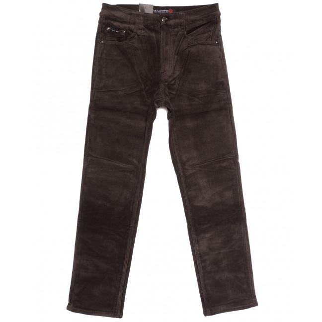 89026 LS брюки мужские вельветовые на флисе коричневые зимние стрейчевые (30-38, 8 ед.) LS: артикул 1114594